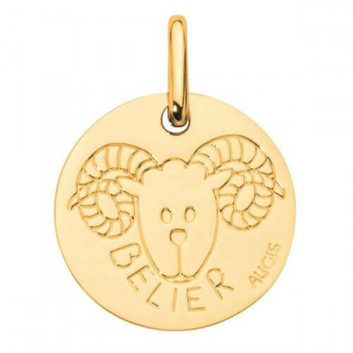 Augis : médaille bélier or jaune