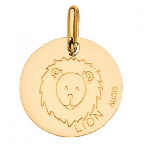 Augis : médaille lion or jaune
