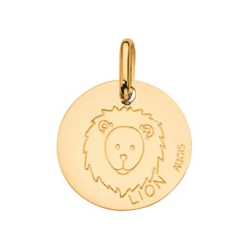 m daille signe zodiaque lion or jaune augis groupe arthus bertrand. Black Bedroom Furniture Sets. Home Design Ideas