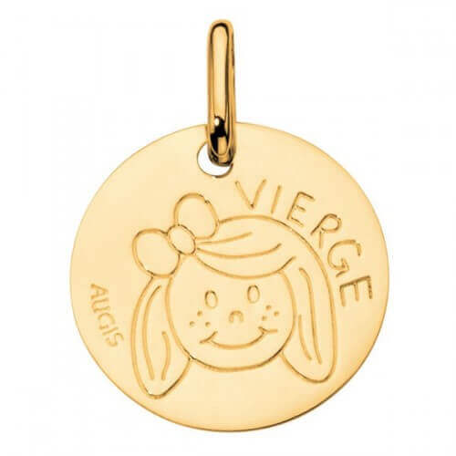 Augis : médaille vierge or jaune