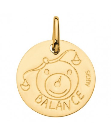 Augis : médaille balance or jaune