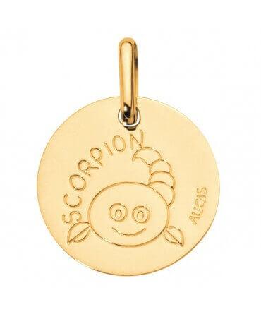 Augis : médaille scorpion or jaune
