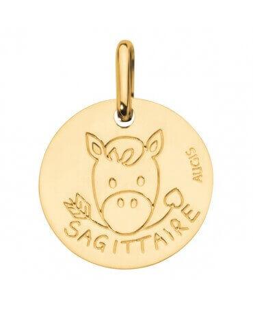 Augis : médaille sagittaire or jaune