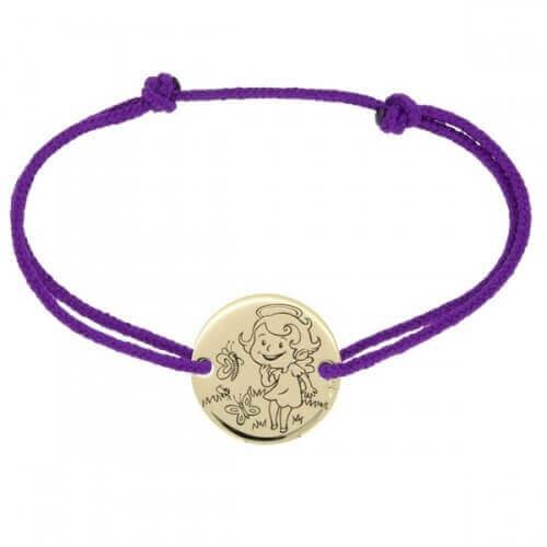 La Fée Galipette : bracelet cordon Maline or jaune 9 carats
