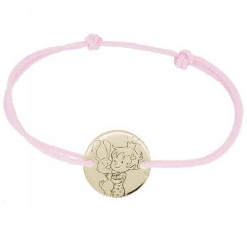 La Fée Galipette : bracelet cordon Curieuse or jaune 9 carats