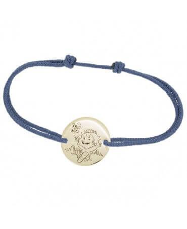 La Fée Galipette : bracelet cordon Blagueur or jaune 9 carats