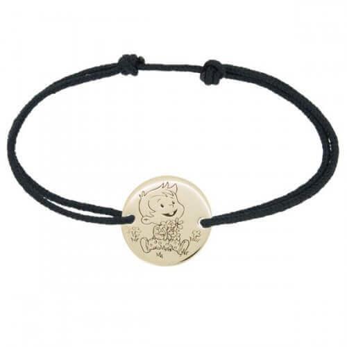 La Fée Galipette : bracelet cordon Rêveur or jaune 9 carats