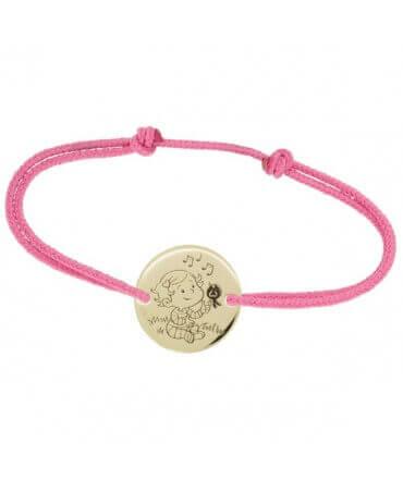 La Fée Galipette : bracelet cordon Caline or jaune 9 carats