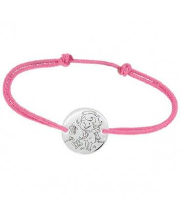 La Fée Galipette : bracelet cordon Maline or blanc 9 carats