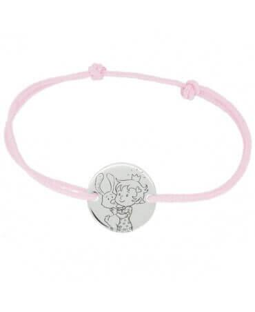 La Fée Galipette : bracelet cordon Curieuse or blanc 9 carats