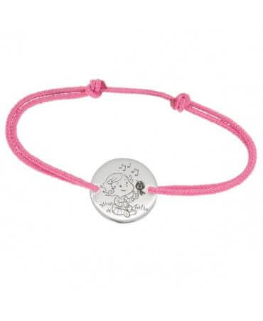 La Fée Galipette : bracelet cordon Câline or blanc 9 carats