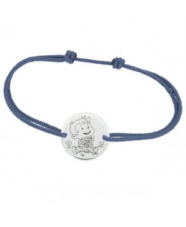La Fée Galipette : bracelet cordon Rêveur or blanc 9 carats