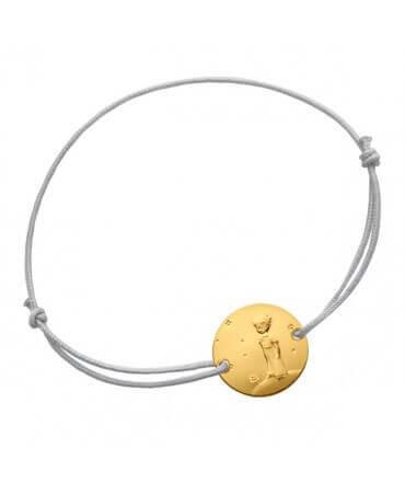 La Monnaie de Paris : bracelet Petit Prince sur sa planère (cordon et or jaune)