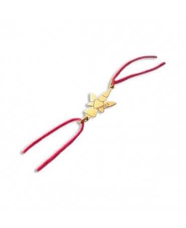 Daddo : bracelet cordon fée libellule (or jaune)