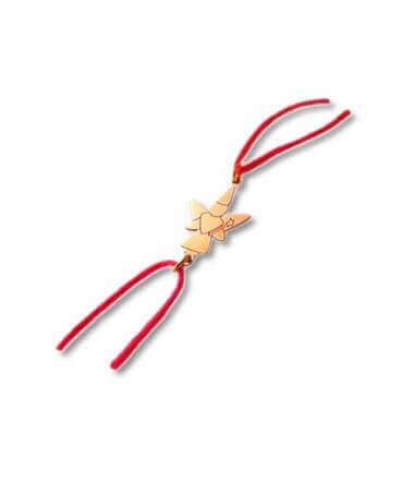 Daddo : bracelet cordon fée libellule (or rose)