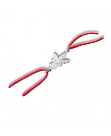 Daddo : bracelet cordon fée libellule (or blanc)