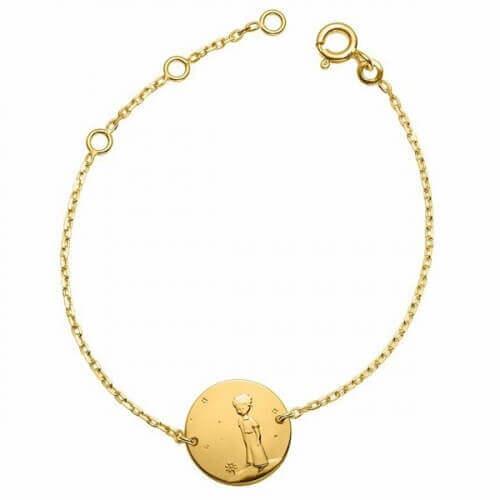 La Monnaie de Paris : bracelet Petit Prince sur sa planère (chaîne or jaune)