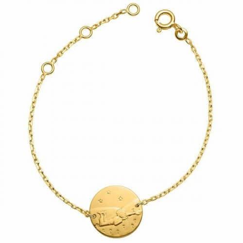 La Monnaie de Paris : bracelet Petit Prince dans l'herbe (chaîne or jaune)