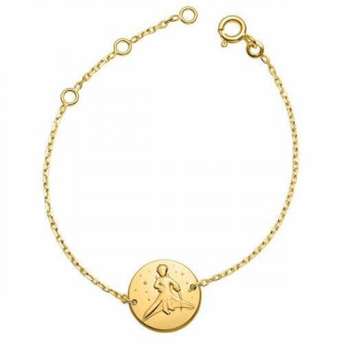 La Monnaie de Paris : bracelet Petit Prince dans les étoiles (chaîne or jaune)