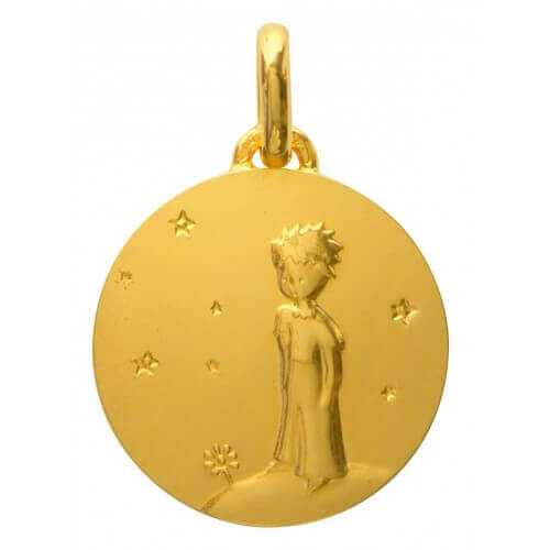 La Monnaie de Paris : médaille Petit Prince sur sa planète (or jaune) 18 mm