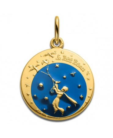 La Monnaie de Paris : médaille Petit Prince et les oiseaux en couleur (or jaune)
