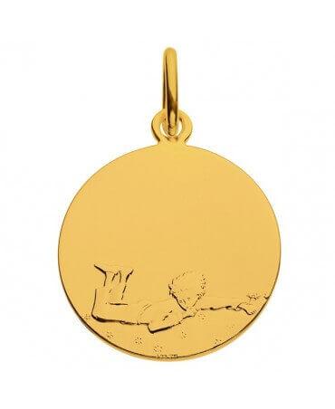 La Monnaie de Paris : médaille Petit Prince couché dans l'herbe (or jaune) - personnalisation recto