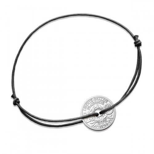 Monnaie de Paris : bracelet cordon 25 centimes argent