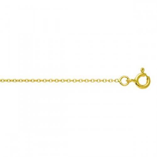 Chaîne forcat rond (or jaune 9 carats)