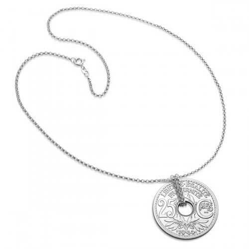 Monnaie de Paris : collier 25 centimes argent