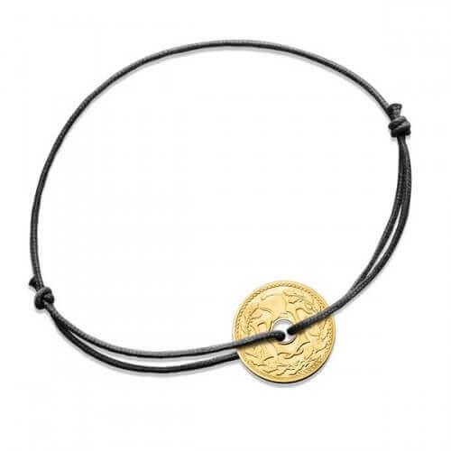 Monnaie de Paris : bracelet 5 centimes or jaune
