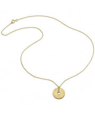 Monnaie de Paris : collier 5 centimes or jaune