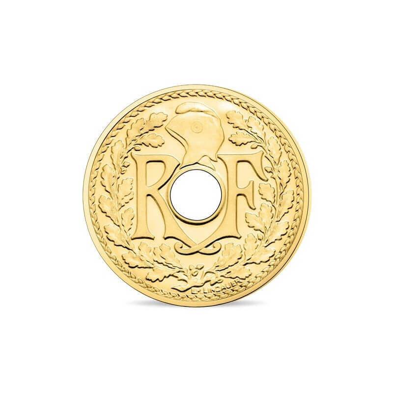 piece de monnaie or jaune
