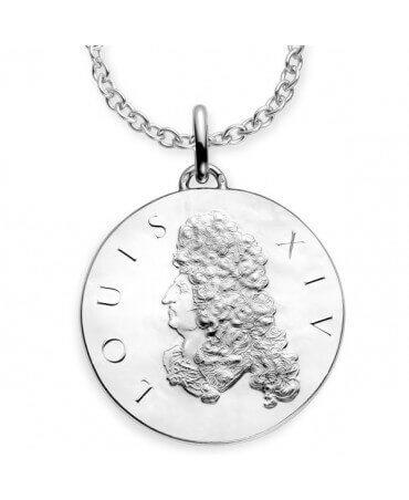 Monnaie de Paris : sautoir Louis XIV argent