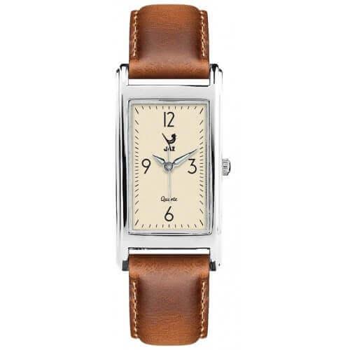 JAZ : montre Simplistic (bracelet marron clair)