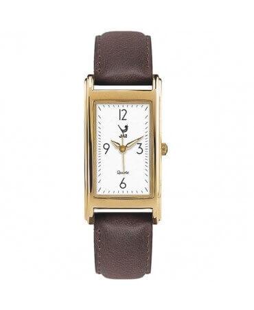 JAZ : montre Simplistic (bracelet marron foncé)