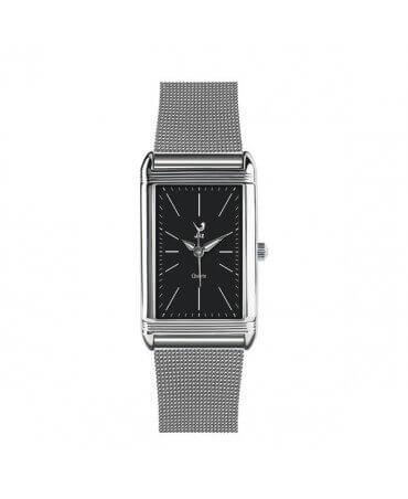JAZ : montre Symetric (bracelet maille milanaise)