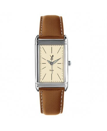 JAZ : montre Symetric (bracelet marron clair)