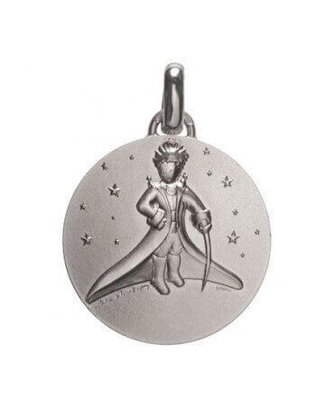 Monnaie de Paris : médaille petit prince dans les étoiles (argent)