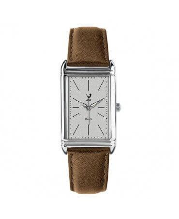 JAZ : montre Symetric (bracelet marron foncé)