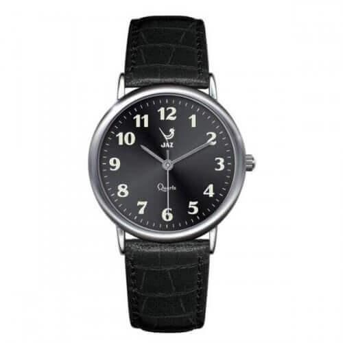 JAZ : montre Pragmatic noire (bracelet noir)