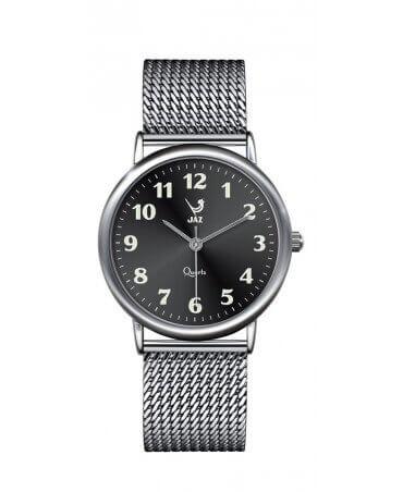 JAZ : montre Pragmatic noire (bracelet maille milanaise)
