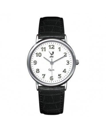 JAZ : montre Pragmatic blanche (bracelet noir)