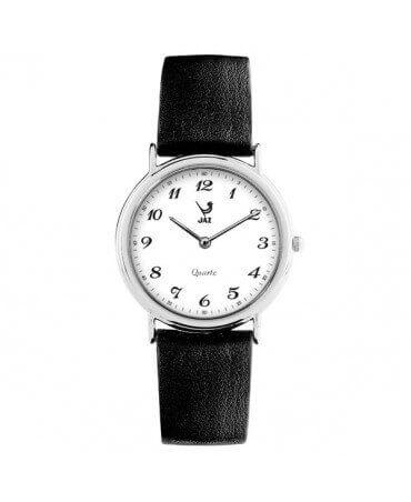 JAZ : montre Algebraic (cadran blanc bracelet noir)