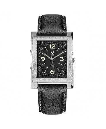 JAZ : montre Esthetic noire (bracelet noir)