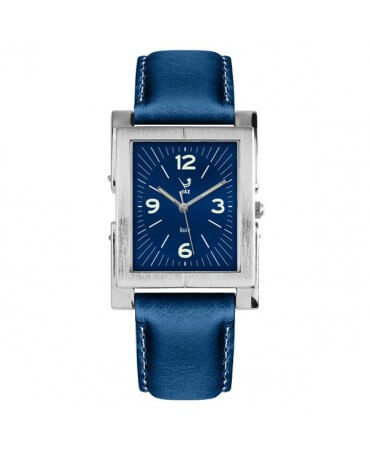 JAZ : montre Esthetic bleue (bracelet bleu)