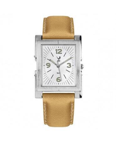 JAZ : montre Esthetic blanche (bracelet crème)
