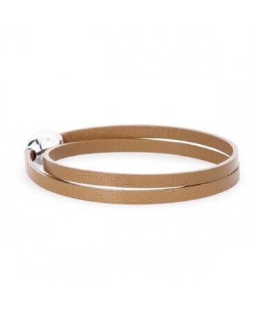 FlowersForZoé : bracelet cuir homme 2 tours Allure