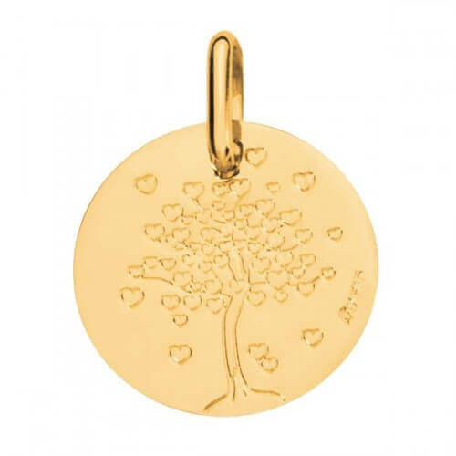 Augis : médaille arbre aux cœurs or jaune