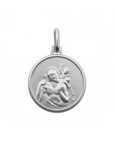 Médaille Saint Christophe Or Blanc 9 carats de AUGIS