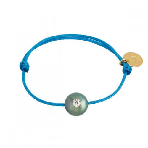 Bracelet bébé perle de Tahiti diamant - Baby Vip